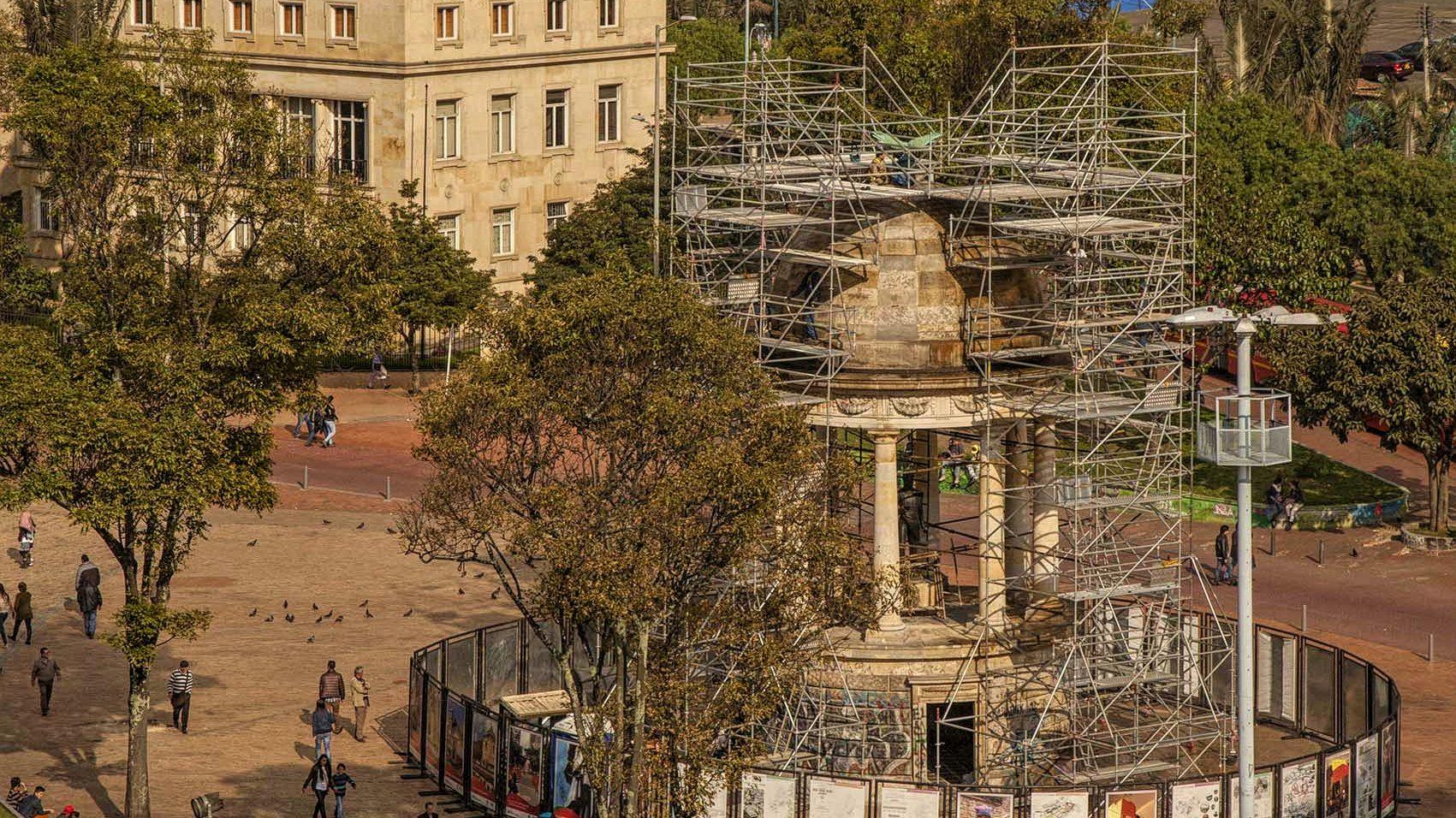 Restauración del monumento del Parque de Los Periodistas Foto: Margarita Mejía ® IDPC