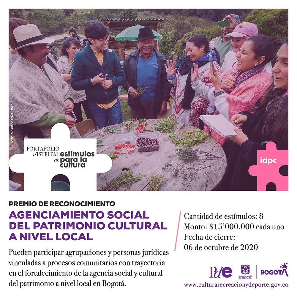 El IDPC, a través del Programa Distrital de Estímulos abre dos nuevas convocatorias, que entregarán 50 millones de pesos en total, con las que buscamos aportar a la reapertura económica de los comercios tradicionales y la activación de organizaciones en el campo del patrimonio cultural en Bogotá.