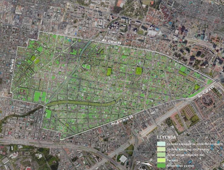 IDPC - PEMP Teusaquillo Diagnóstico Antejardines, patios y zonas verdes