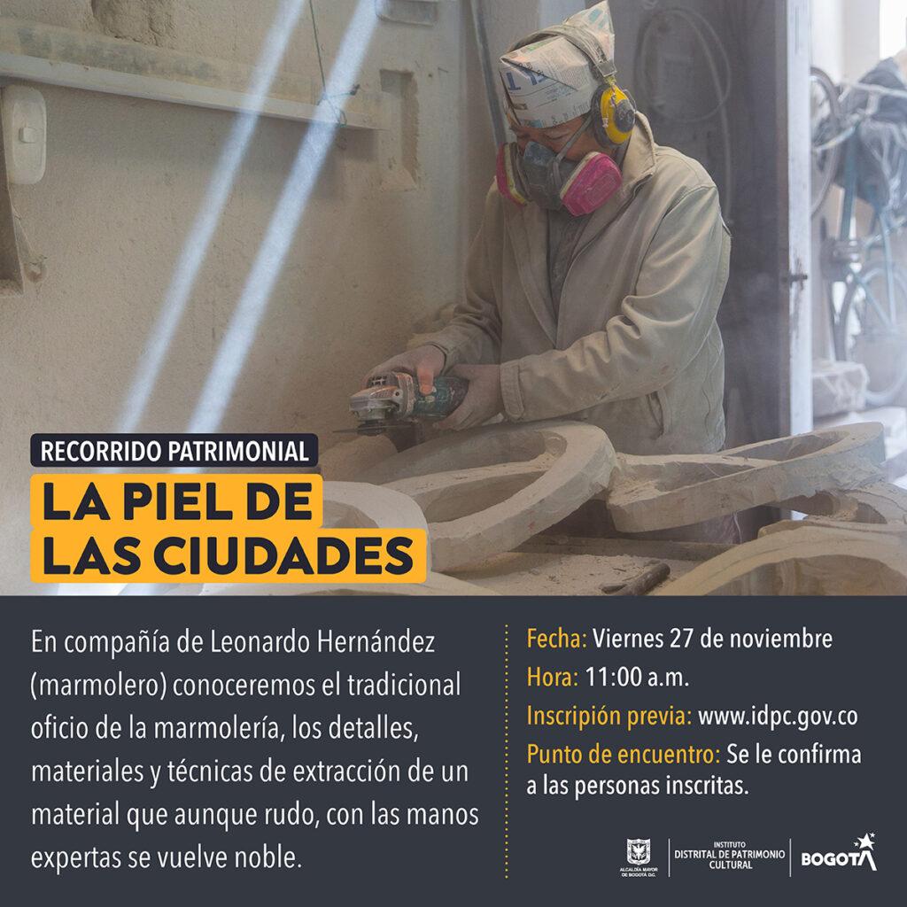 IDPC - Recorrido presencial Piel de las ciudades por el patrimonio marmolero