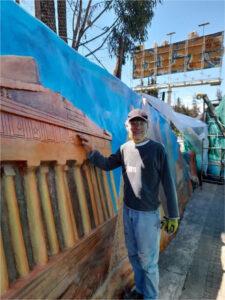 IDPC - Jorge lopera durante la restauración monumento suba