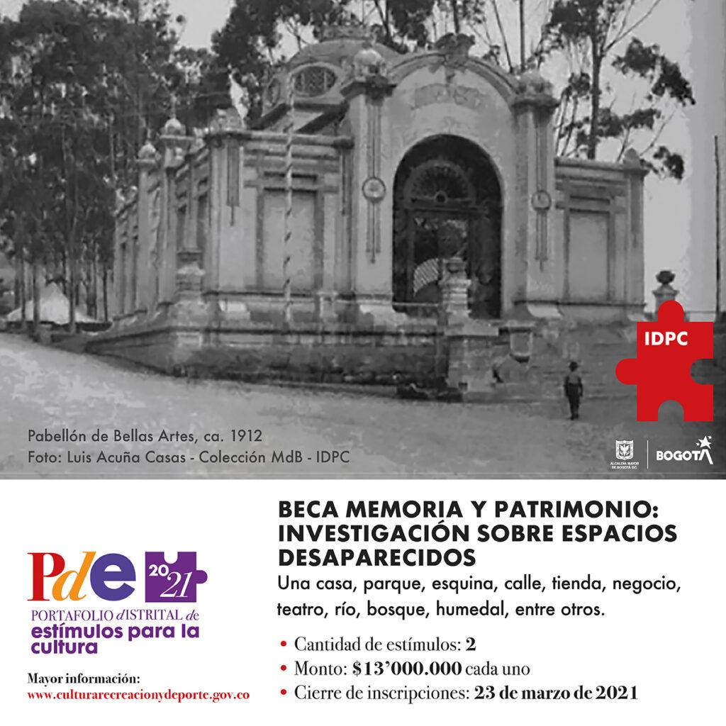 Beca 2021 memoria y patrimonio: investigación de espacios desaparecidos