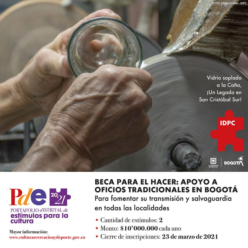 Beca 2021 para el hacer: apoyo a oficios tradicionales en Bogotá