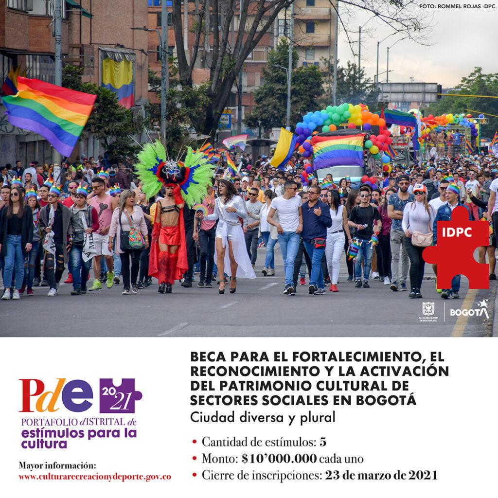 Beca 2021 para el fortalecimiento, el reconocimiento y la activación del patrimonio cultural de sectores sociales en Bogotá