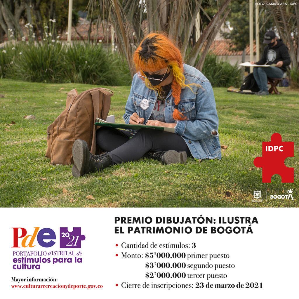 Premio Dibujatón 2021: Ilustra el patrimonio de Bogotá