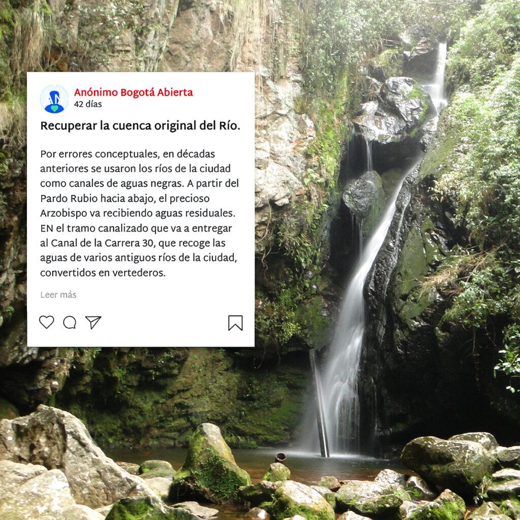 Imagen Río Arzobispo con mensajes de protección