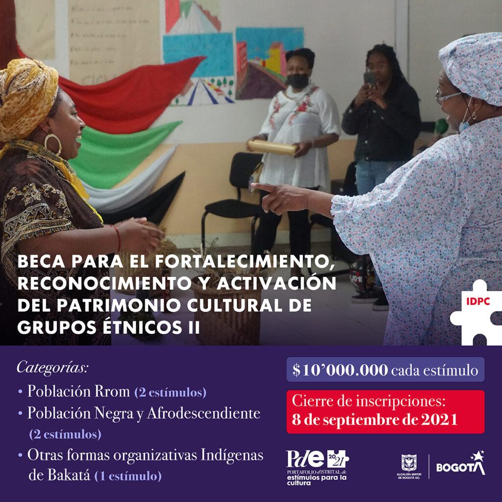 Beca para fortalecimiento étnico