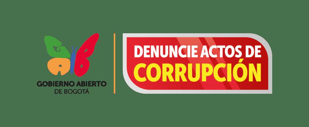 Botón denuncie actos de corrupción