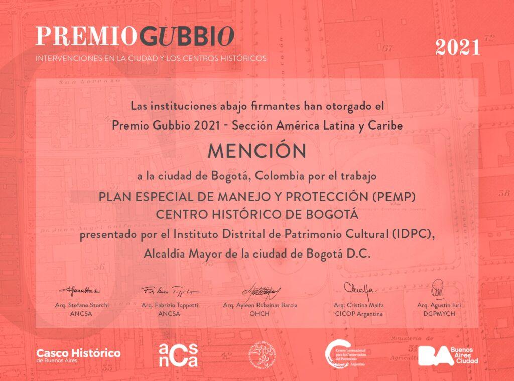 Diploma Premio Gubio