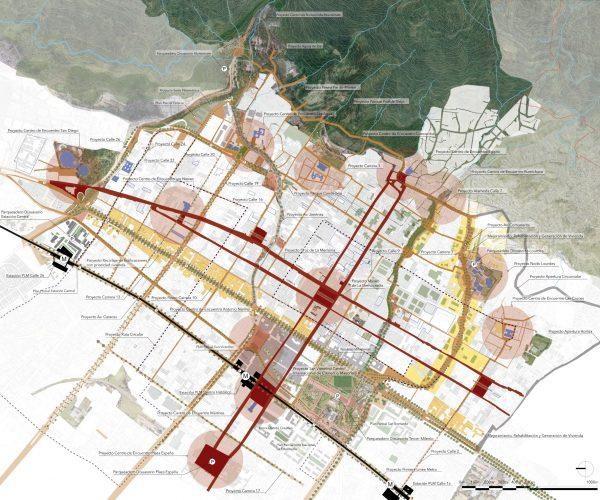 Propuesta urbana del PEMP del Centro Histórico.